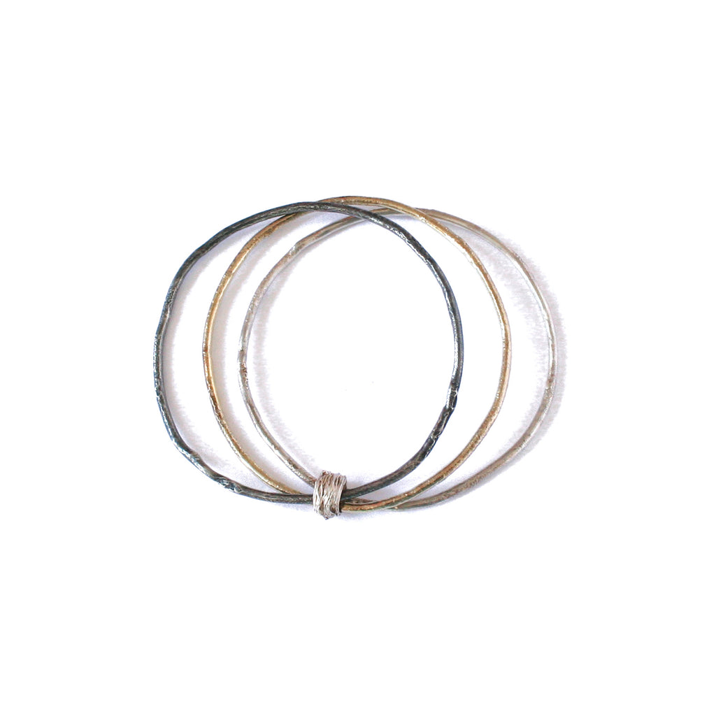 Three Toned Multi Layered Bangle