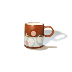 Pink, blue & yellow abstract espresso Mug