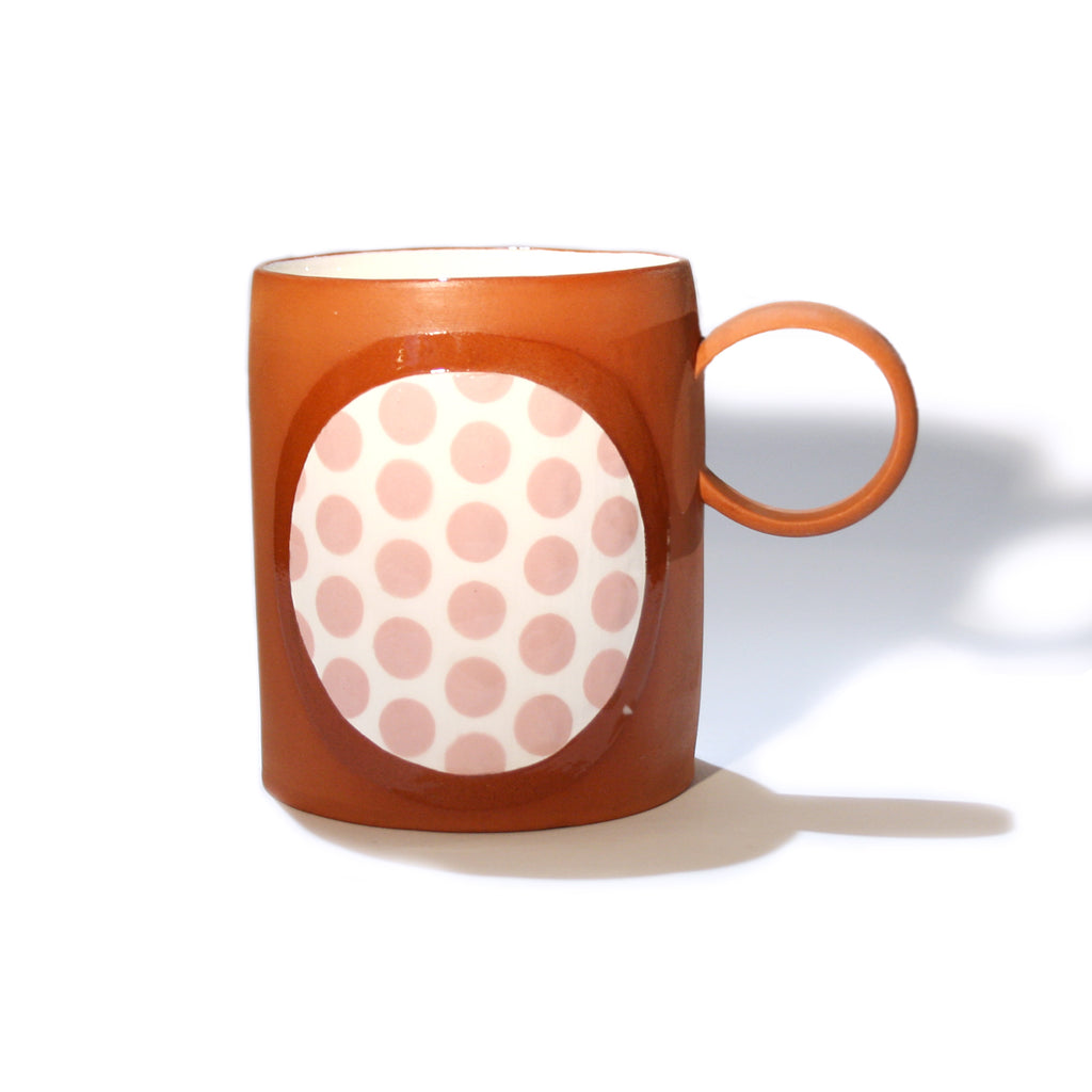 Pink Spotted Terracotta Mug