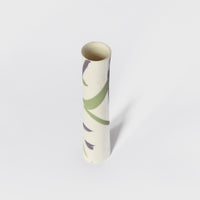 Green and violet splash Single Stem Porcelain Vase