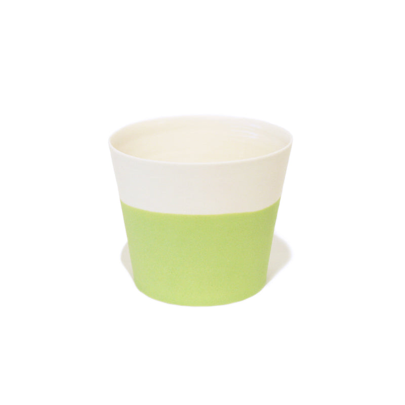 Green Straight Side Porcelain Cup