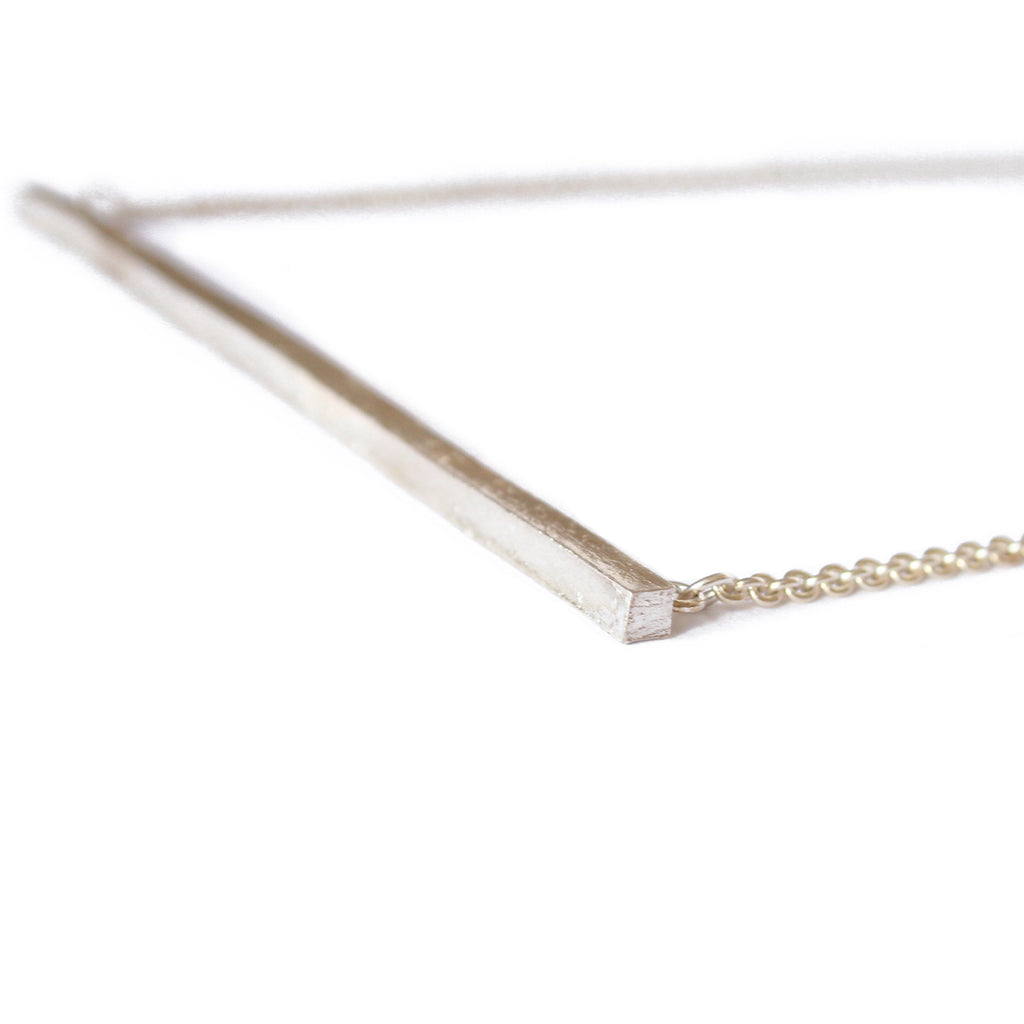 Sterling Silver Bar Necklace