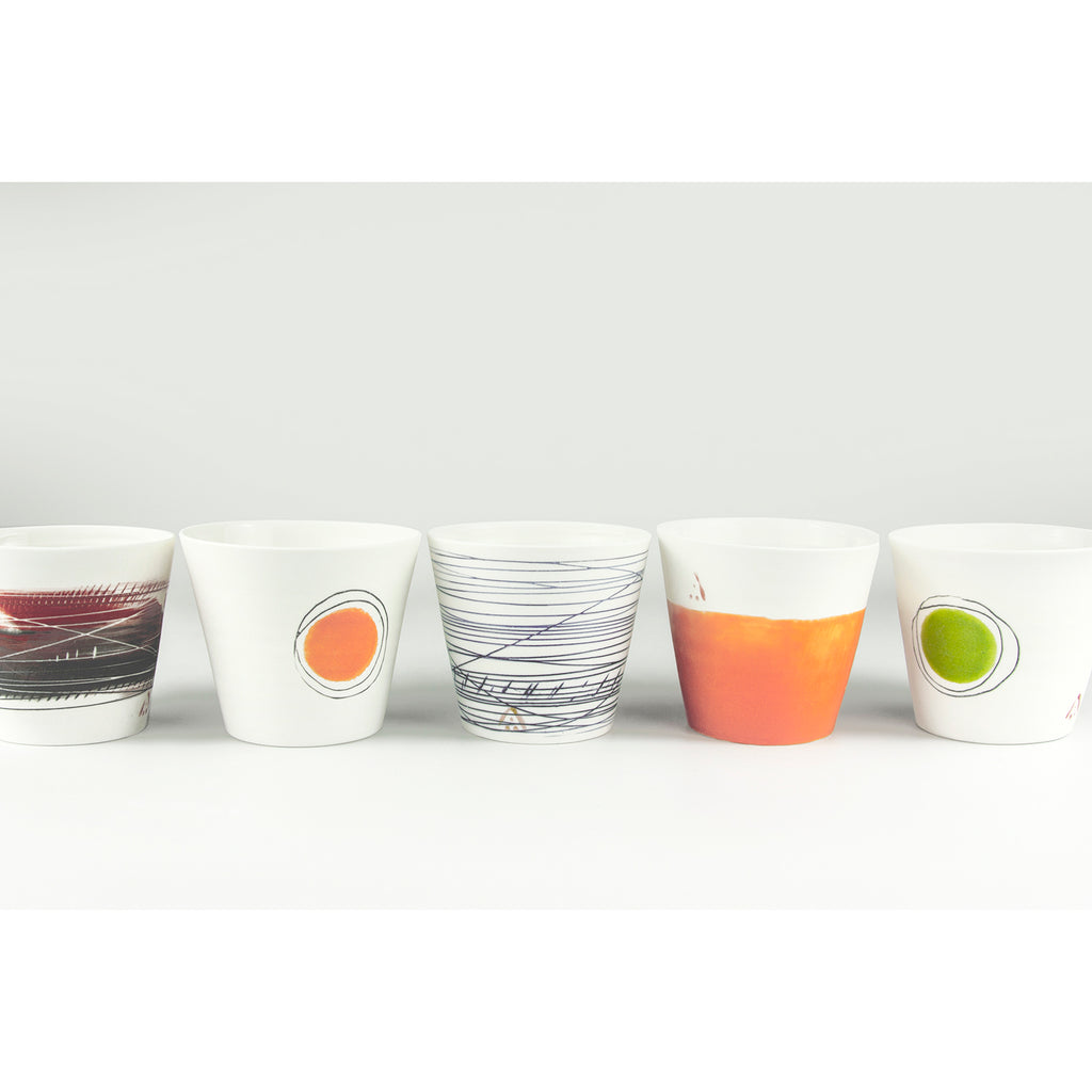 Citrus Coloured Porcelain Cups