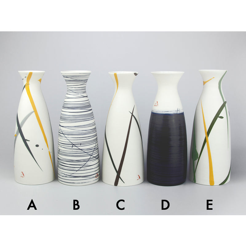 Wide Necked Porcelain Bottles