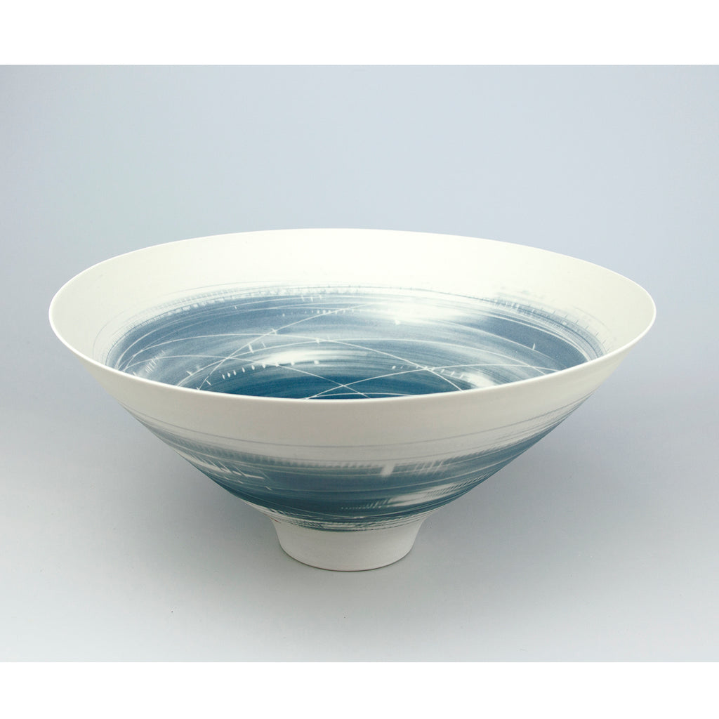 Large Two Tone Blue Bowl