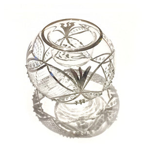 Antique Swag Votive in Silver