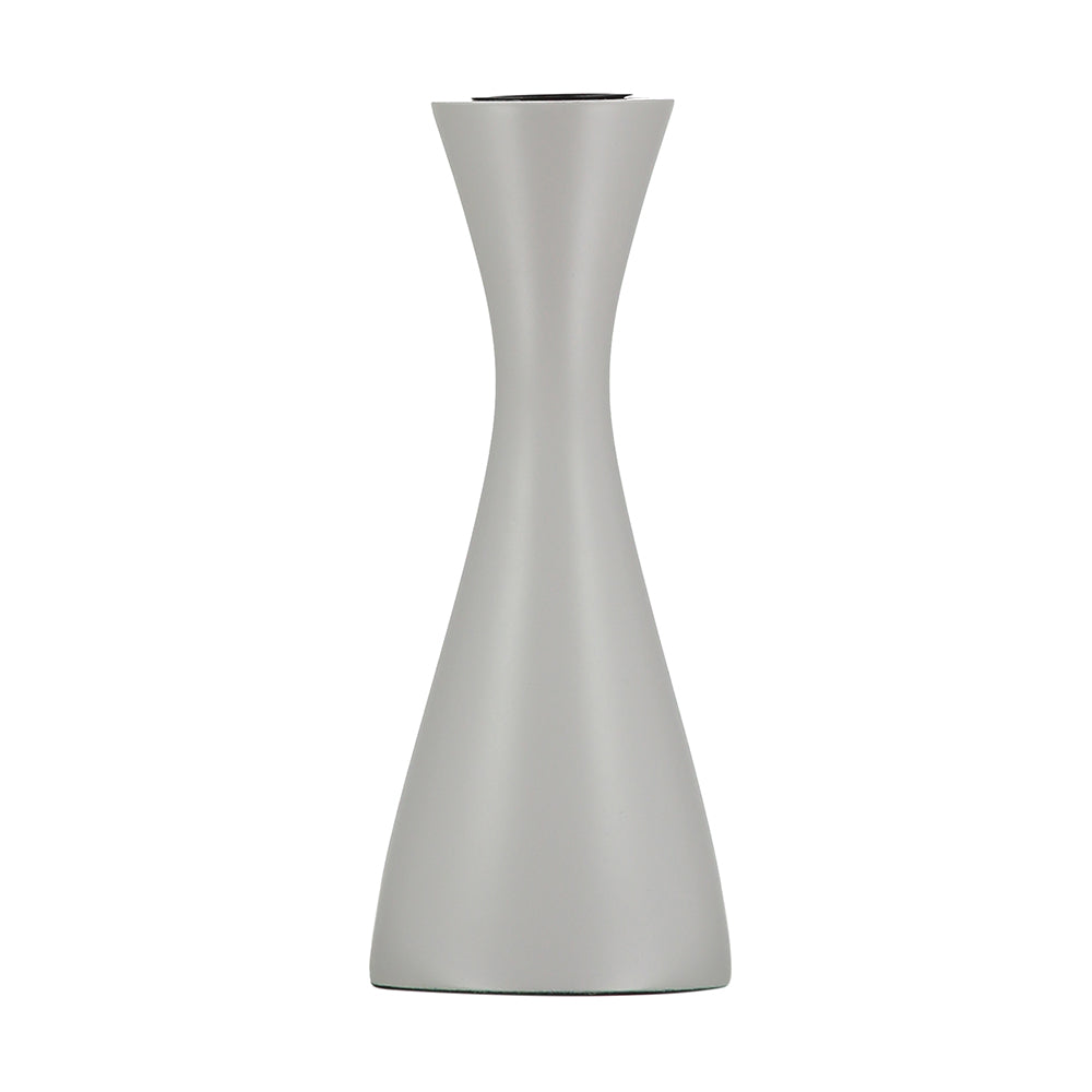 Medium Gull Grey Candleholder