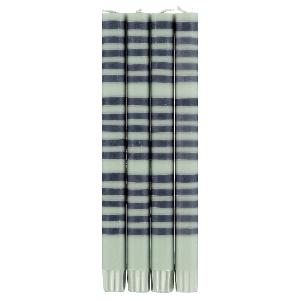 Striped Opaline And Indigo Eco Candles