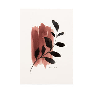 'Be Free' Watercolour Art Print