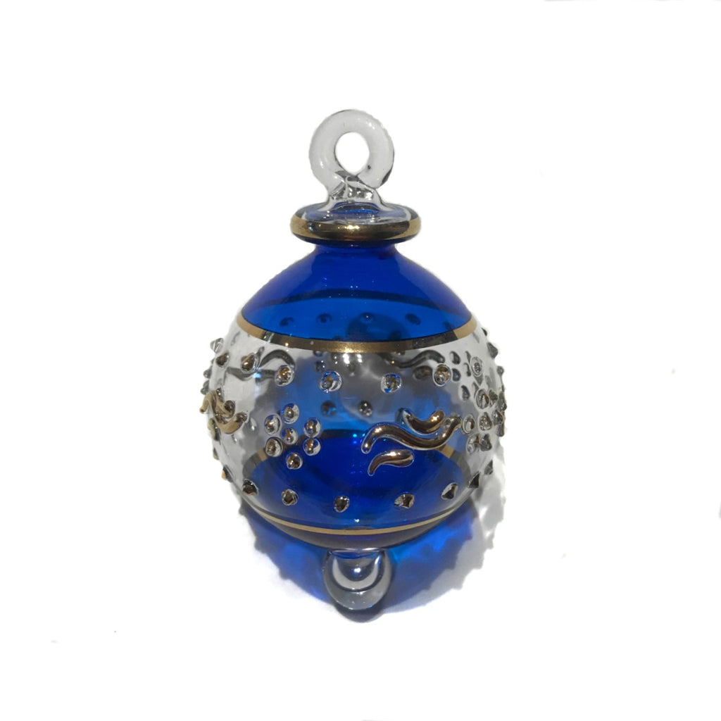 Victorian Gem Bauble in Blue, Small