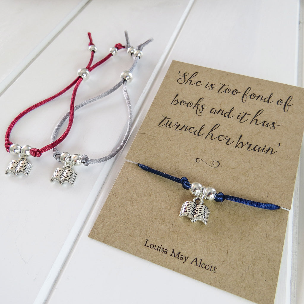 Louisa May Alcott Book Lover Bracelet