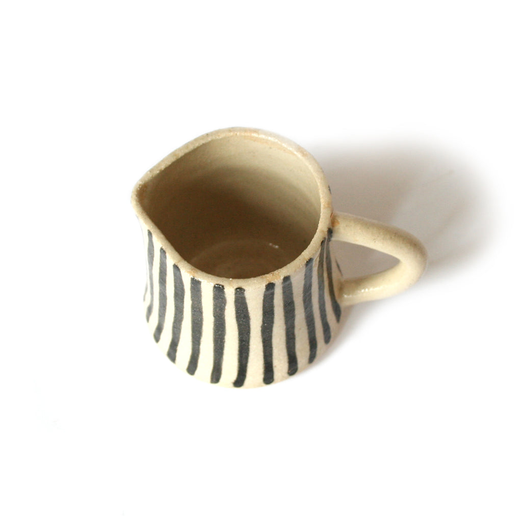 Small Striped Jug with Handle