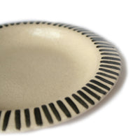Small Black & White Striped Plate