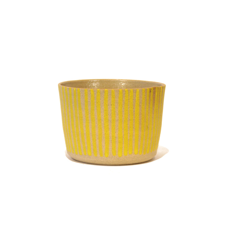 Small Stripe Ceramic Pot