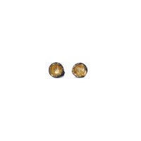 Oxidised Silver and Gold Leaf Cup Studs