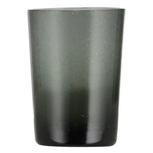 Charcoal Grey Handmade Glass Tumbler