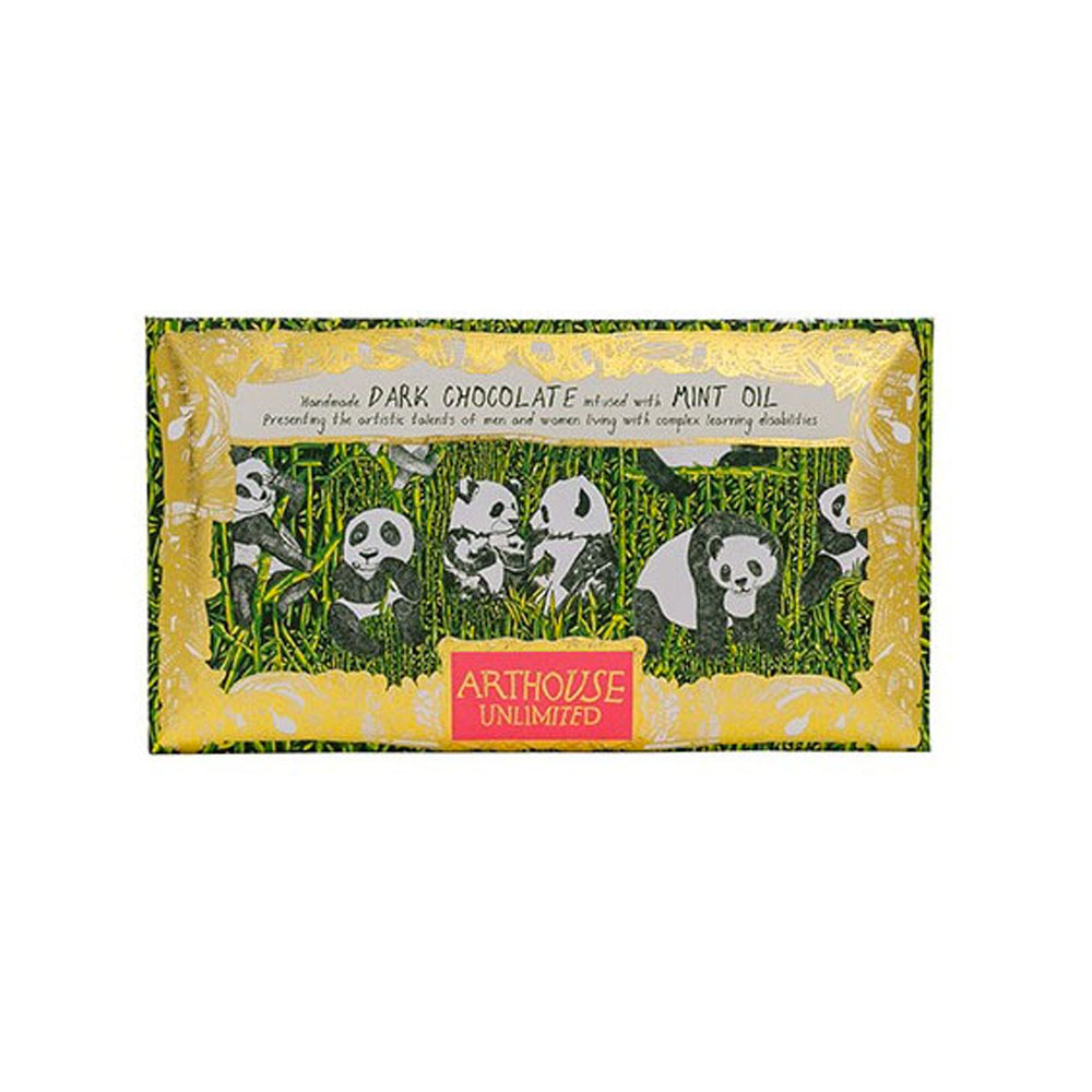 Panda Party Handmade Dark Chocolate Infused with Mint Oil