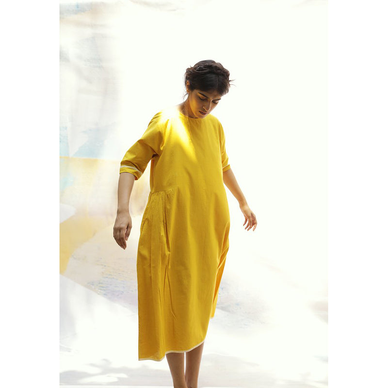 'Colleen' Yellow Dress