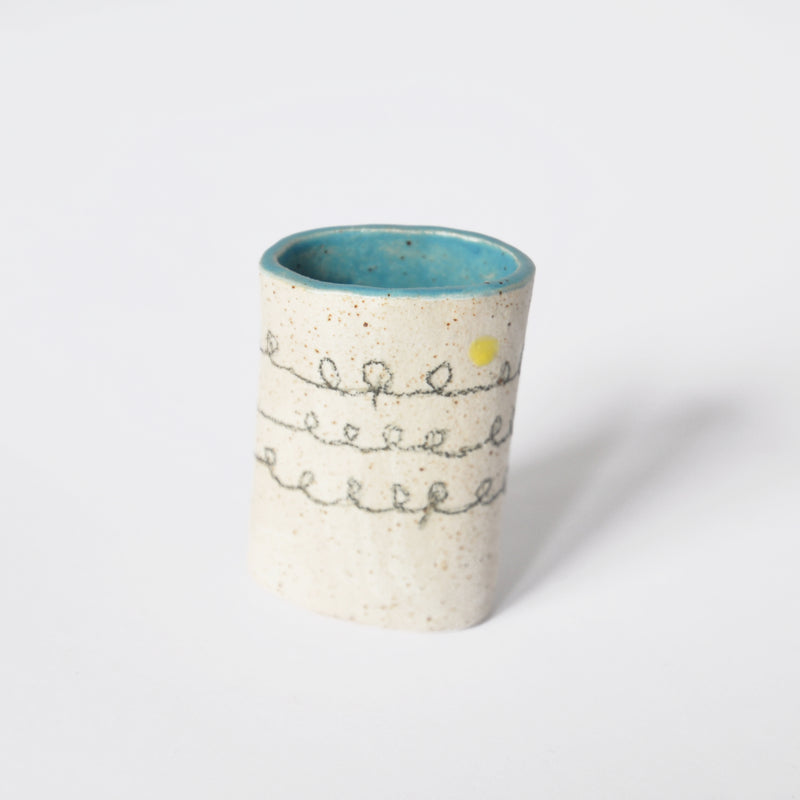 Ceramic Vase with Blue Glaze