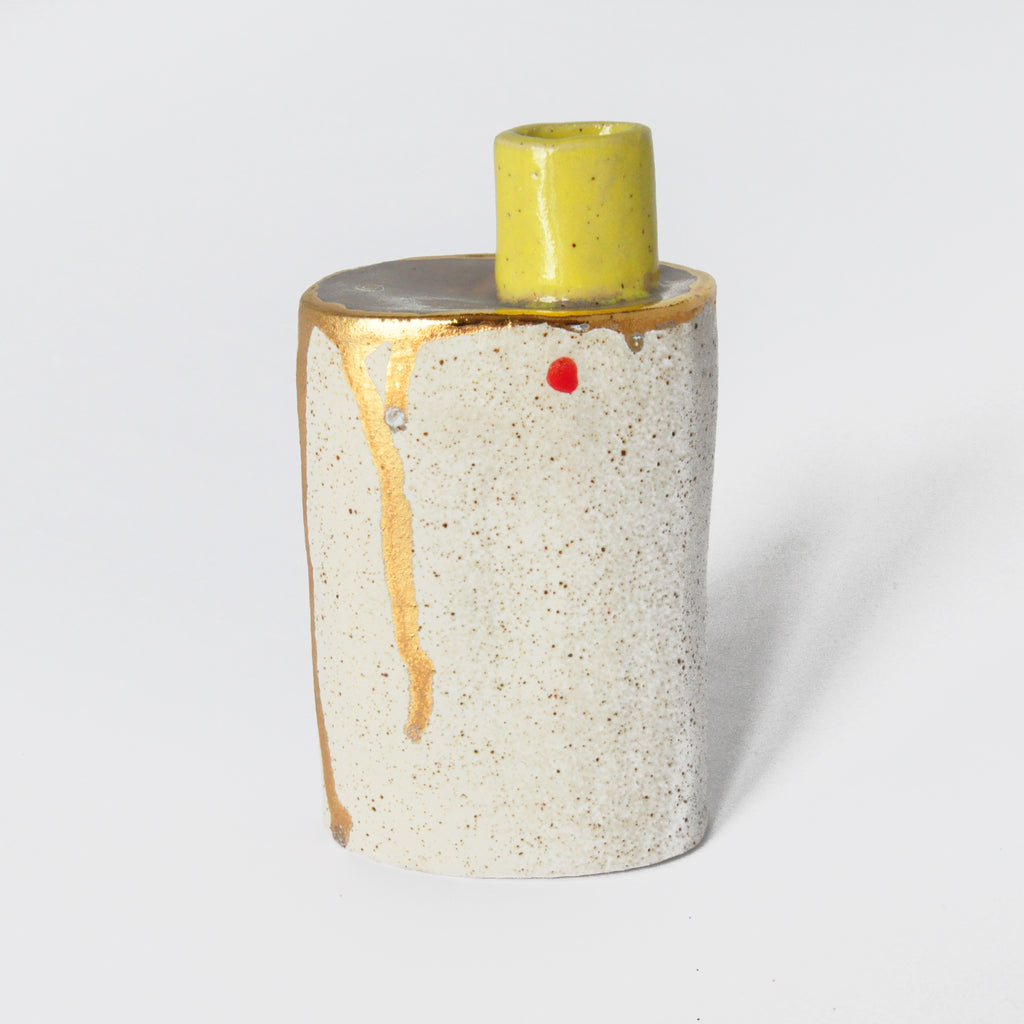Ceramic Vase With Yellow Chimney