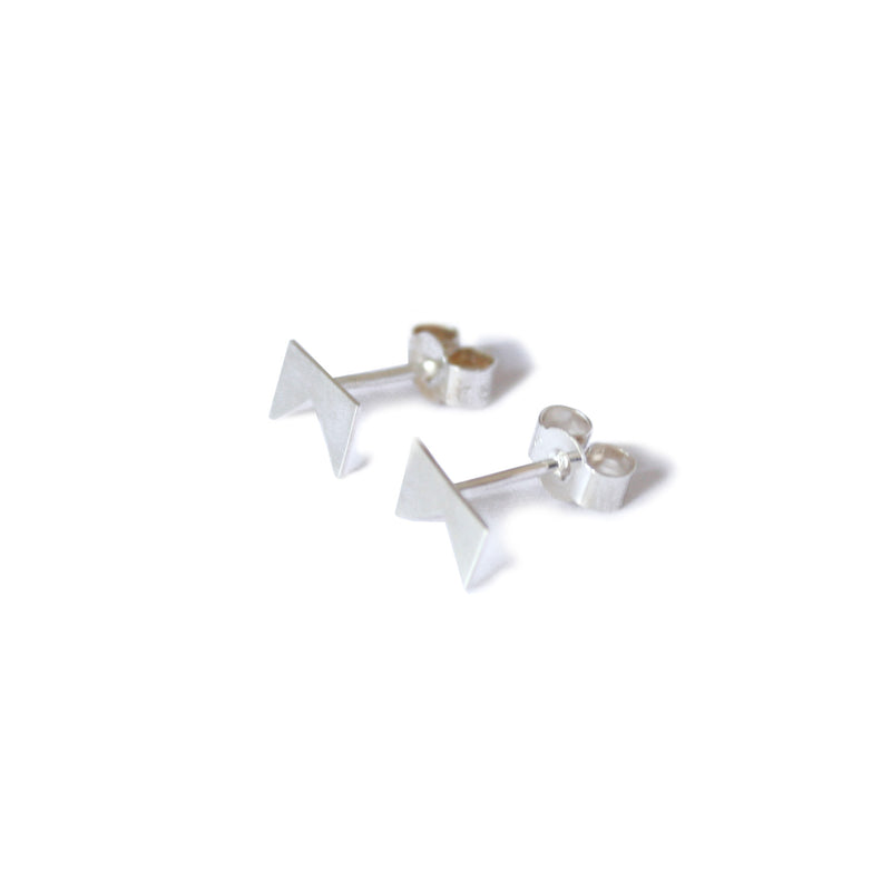 Silver 'Forked-Tree' Studs