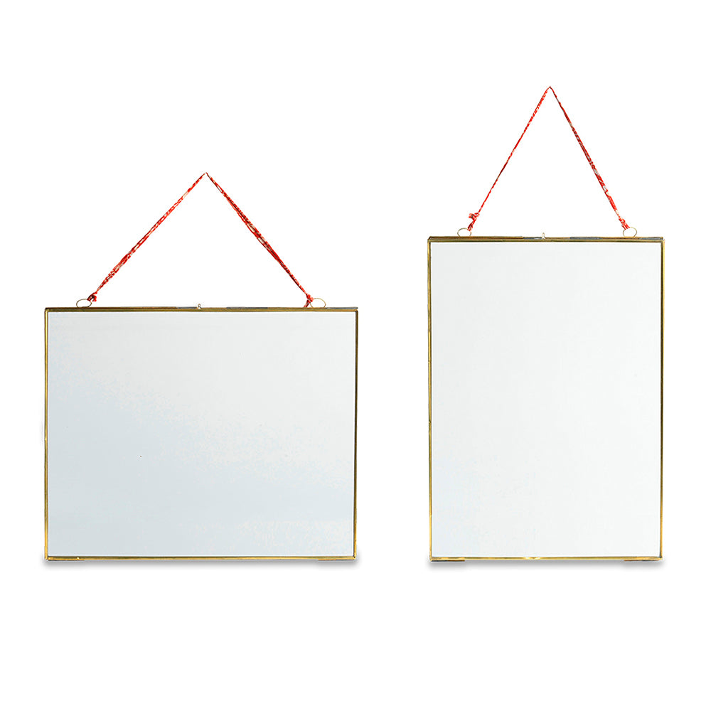 Extra Large Brass Glass Frame