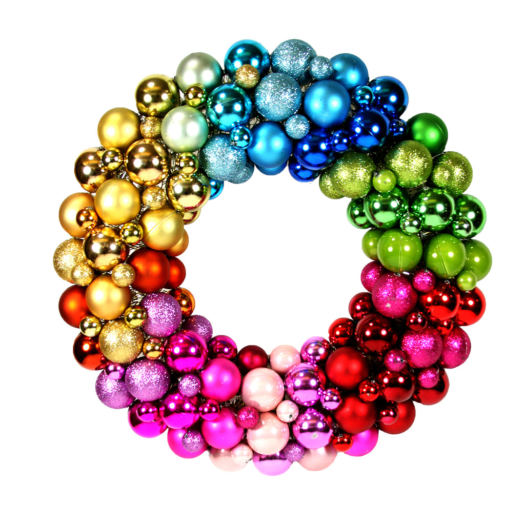 Large Ball Encrusted Wreath