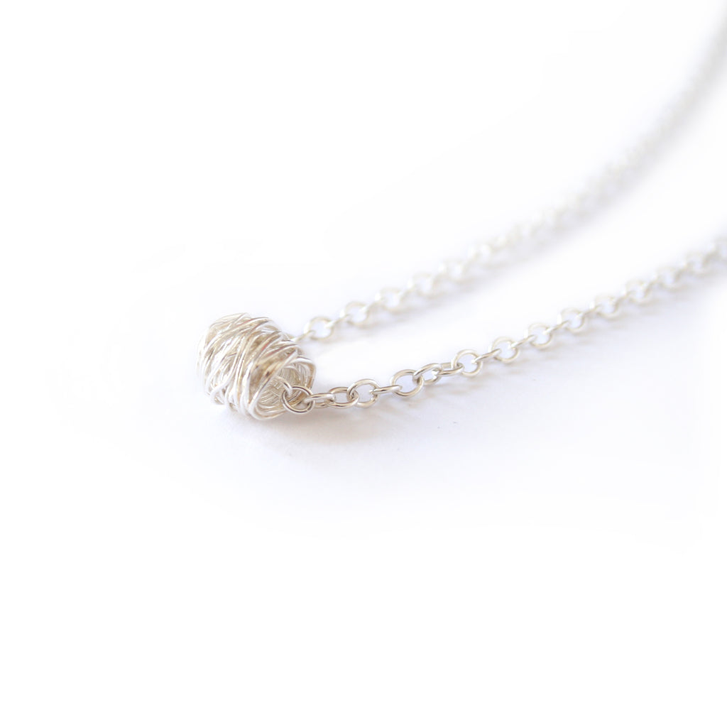Silver Wrap Necklace