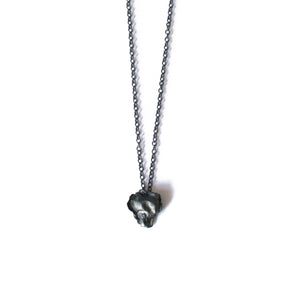 Oxidised Silver Organic Cast Necklace
