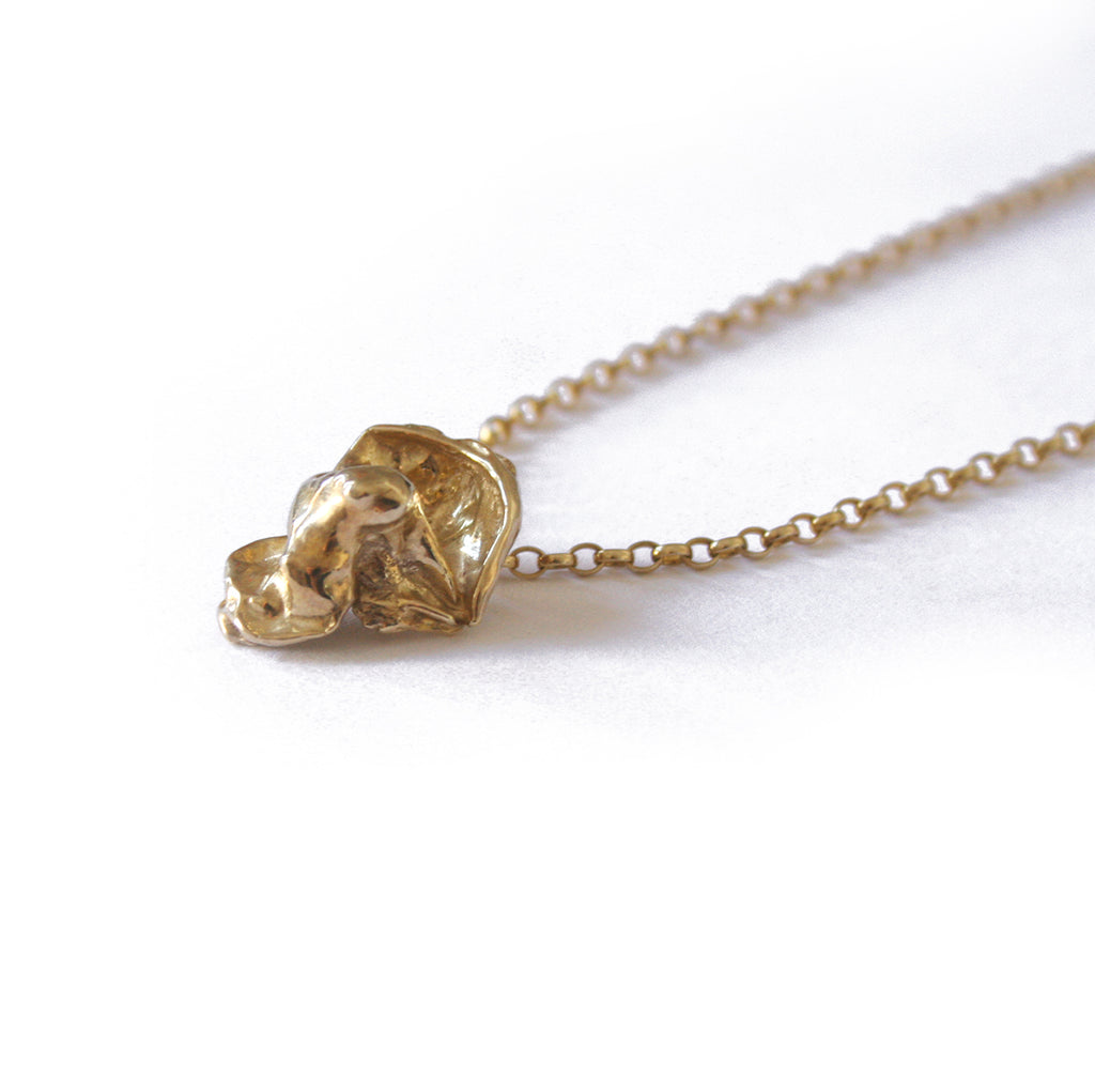 Gold Plated Organic Cast Necklace