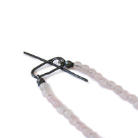 Rose Quartz & Oxidised Silver Twig Necklace