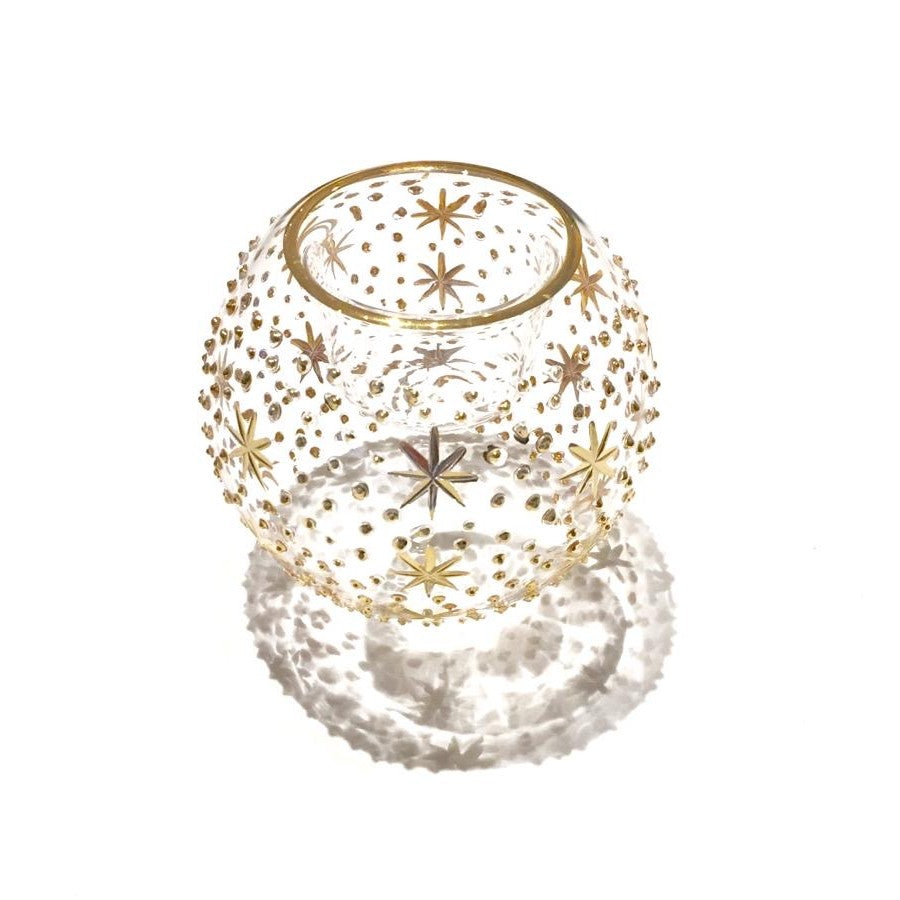 Gold Votive Heaven hand-blown glass