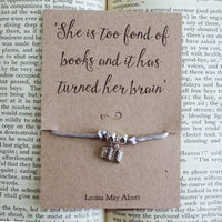 Louisa May Alcott Book Bracelet