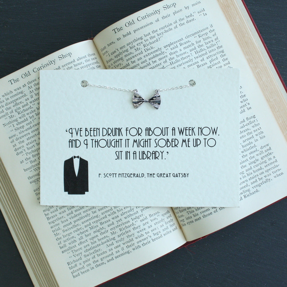 The Great Gatsby Bow Tie Necklace