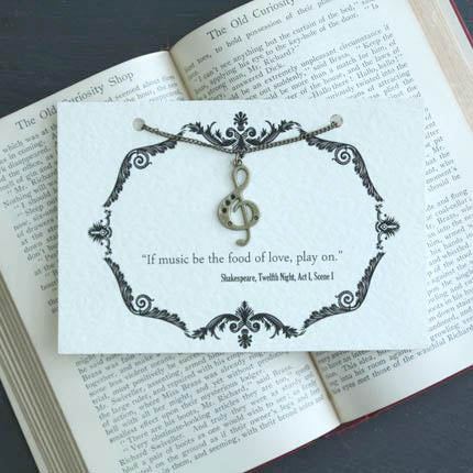 Shakespeare Twelfth Night Necklace