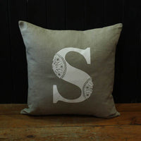 Alphabet Screen Printed Linen Cushions