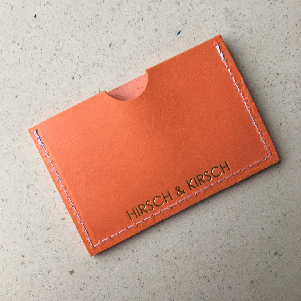Orange Card Holder