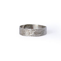 Silver Reticulated Band Ring