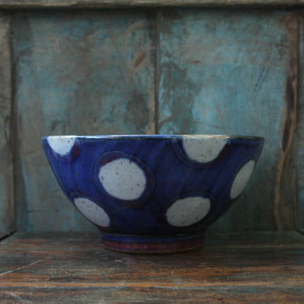 Blue Spot Soup Bowl