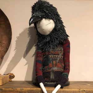 Crow Bust - Textile Sculpture