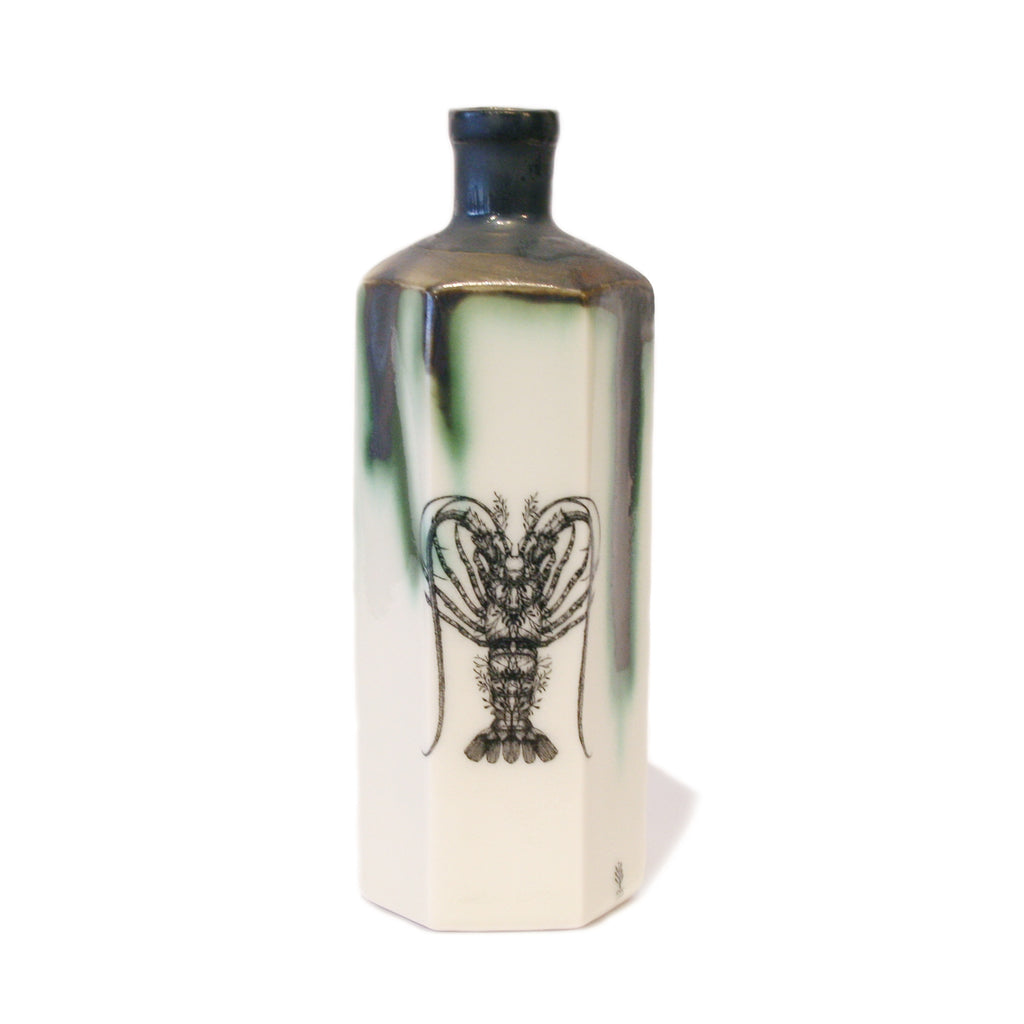 Hexagonal Poison Bottle with Lobster