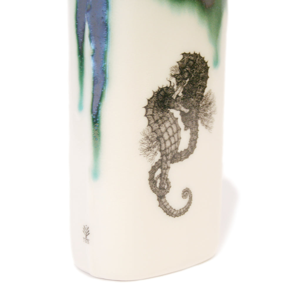 Large Bottle with Seahorses