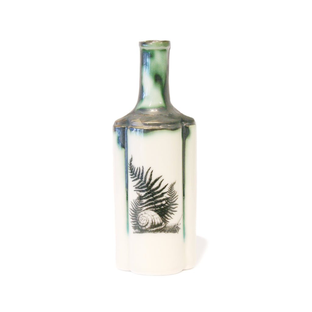 Snail & Fern Fluted Bottle