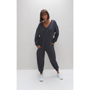 Julie All In One Jumpsuit - Charcoal