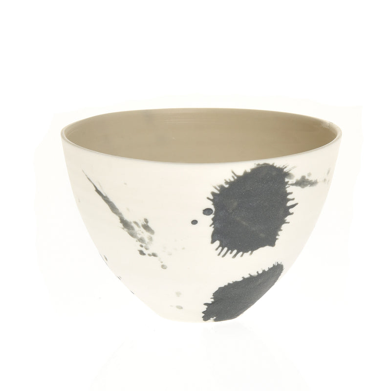 Black splash  Porcelain bowl