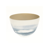 Two Tone Blues Porcelain Cup