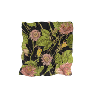 Kew Passion flower Black Scarf