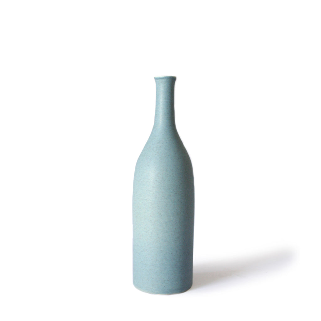 Sea Blue Bottle Vase