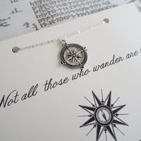 J R R Tolkien Compass Charm Necklace