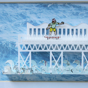 'The Grand Pier' Paper Cut Artwork